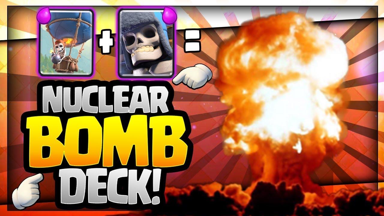 Insane Nuclear Bomb Deck Giant Skeleton Balloon So Much Fun