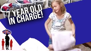 Eight Year Old is Mini Mom to 7 Kids | Supernanny