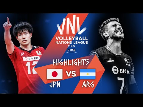 Download Japan vs. Argentina - FIVB Volleyball Nations League - Men - Match Highlights, 11/06/2021