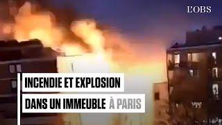 Explosion à Paris : les images impressionnantes des pompiers