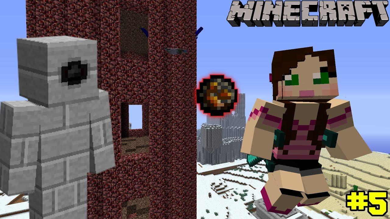 minecraft push the golem challenge eps6 5 youtube
