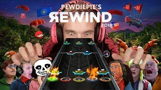 PewDiePie's Rewind but it's on Guitar Hero