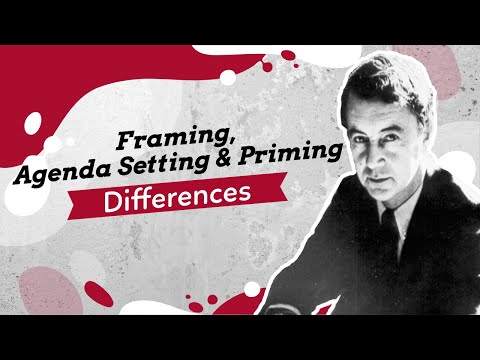 The Difference Between Framing, Agenda Setting, And Priming: In Depth Lecture