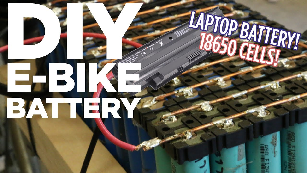 Diy Lithium Ion E Bike Battery Pack From 18650 Laptop Batteries Electric Motorcycle Wiring Diagram Youtube