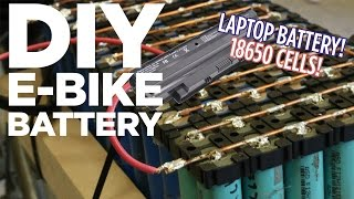 DIY Lithium Ion E-Bike Battery Pack from 18650 Laptop Batteries(How to build a lithium ion electric bike battery pack from recovered used laptop batteries. Save hundreds of dollars by salvaging 18650 li-ion cells from used or ..., 2015-05-11T02:09:22.000Z)