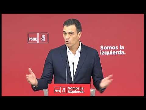Declaración de Pedro Sánchez sobre la situación política