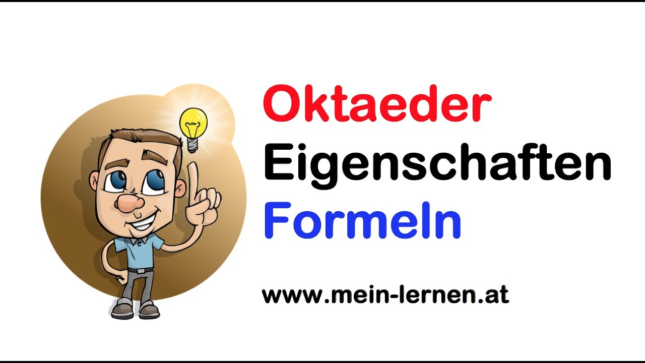 oktaeder eigenschaften und formeln youtube. Black Bedroom Furniture Sets. Home Design Ideas