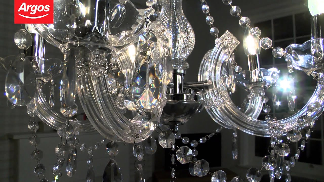 Buy inspire chandelier 5 light ceiling fitting youtube buy inspire chandelier 5 light ceiling fitting aloadofball Gallery