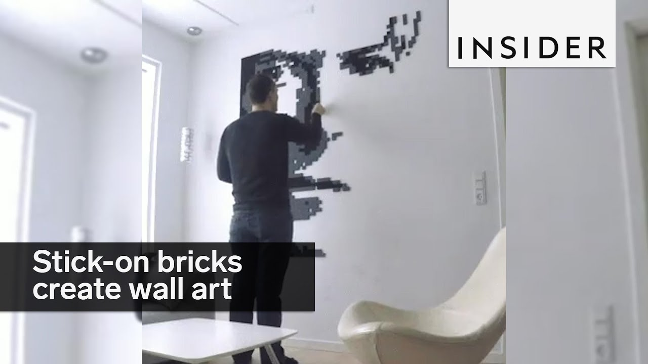 These Stick On Bricks Let You Create Custom Wall Art   YouTube