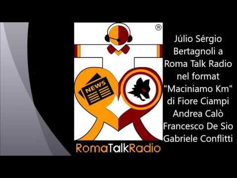 Júlio Sérgio Bertagnoli a Roma Talk Radio nel format Maciniamo Km