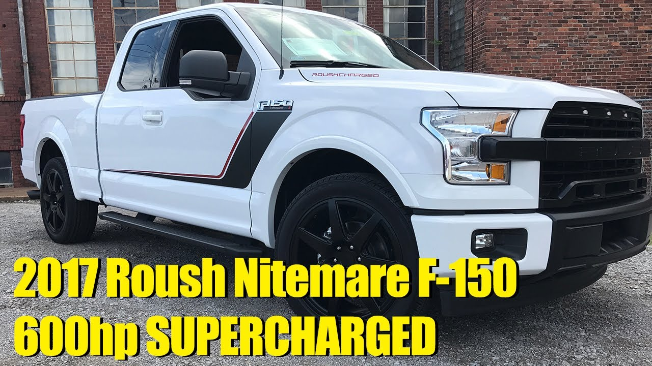 2017 roush f 150 nitemare supercharged 0 60 in 4 2 seconds for sale oxford white youtube. Black Bedroom Furniture Sets. Home Design Ideas