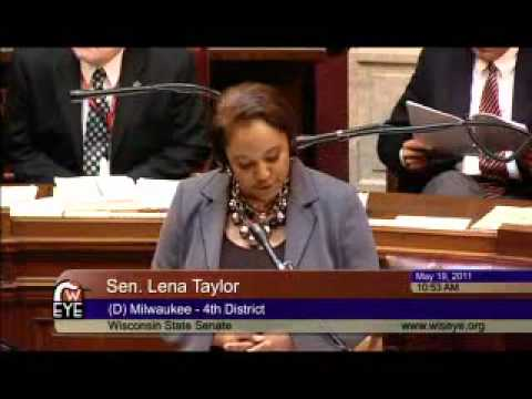 Sen. Lena Taylor on WI Voter Suppression Bill 5.19.11