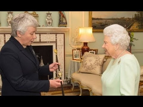 Queen Elizabeth meets first female Black Rod in Buckingham Palace in historic ceremony