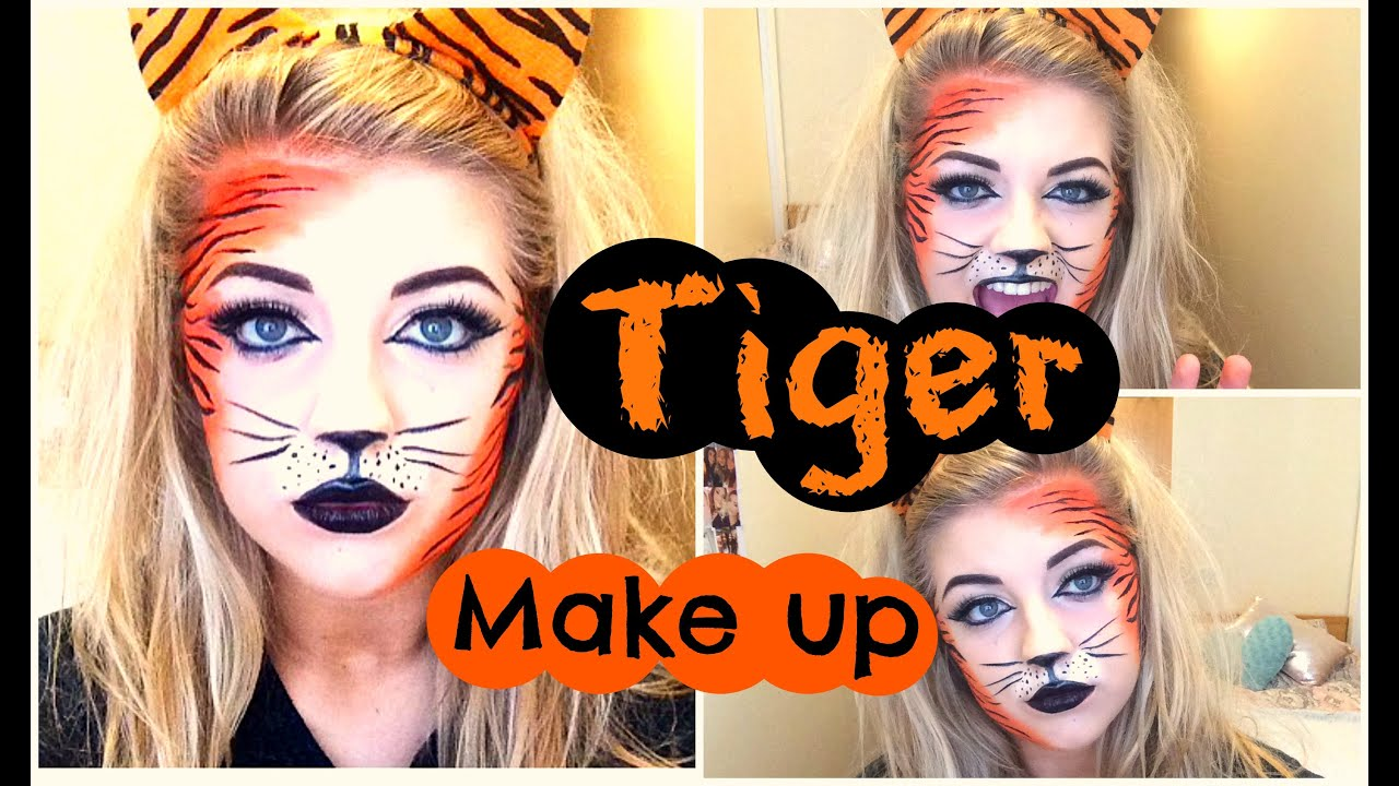Halloween tiger makeup tutorial youtube baditri Image collections