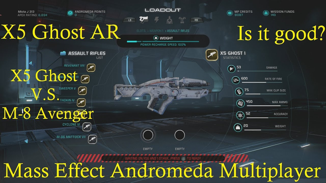 X5 Ghost Mass Effect Andromeda: M-8 Avenger Comparison