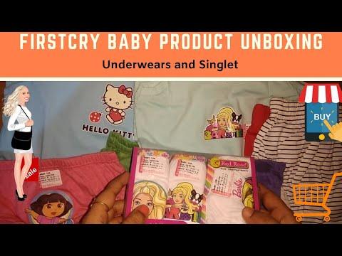 Baby Girl Underwears Review  #Firstcry #babyundergarments #singlet #babyhug #hellokitty