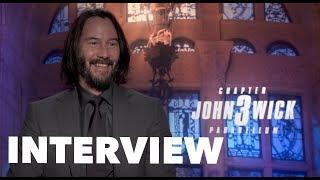 JOHN WICK 3 Cast Interviews Keanu Reeves Halle Berry Ian McShane Lance Reddick