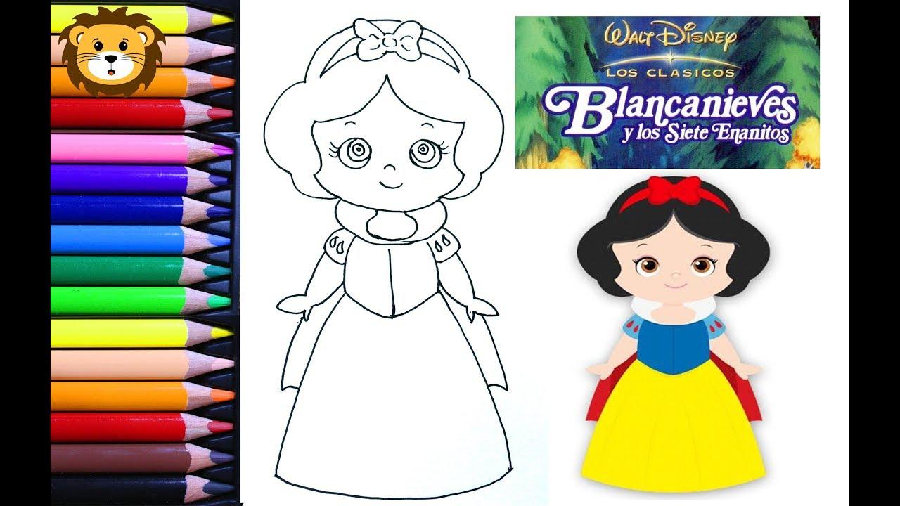 Como Dibujar Blanca Nieves Kawaii Disney Dibujos Para Niños