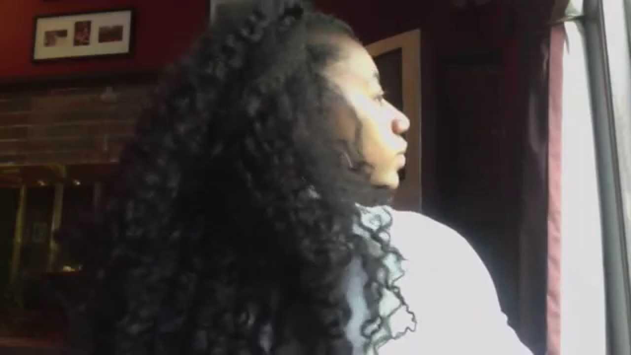 Natural Looking Crochet Braids using Marley Hair - YouTube