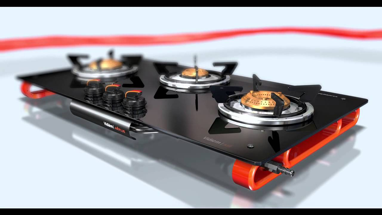 Gas Cooktop Glass Vidiem Air Plus Gas Cooktop 20sec Youtube