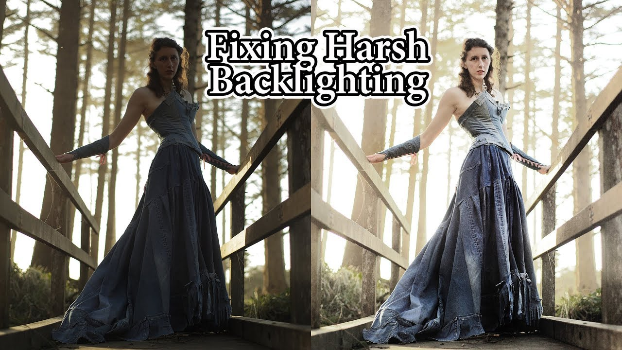 Cs5 Photoshop Editing Tutorial: How To Brighten Severely Shadowed And Back  Lit Image  Youtube