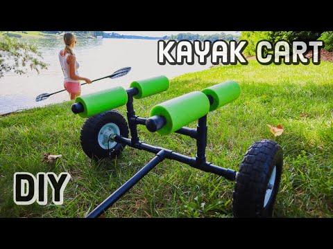 NEW! How To Make A Kayak Cart Out Of PVC | CHEAP