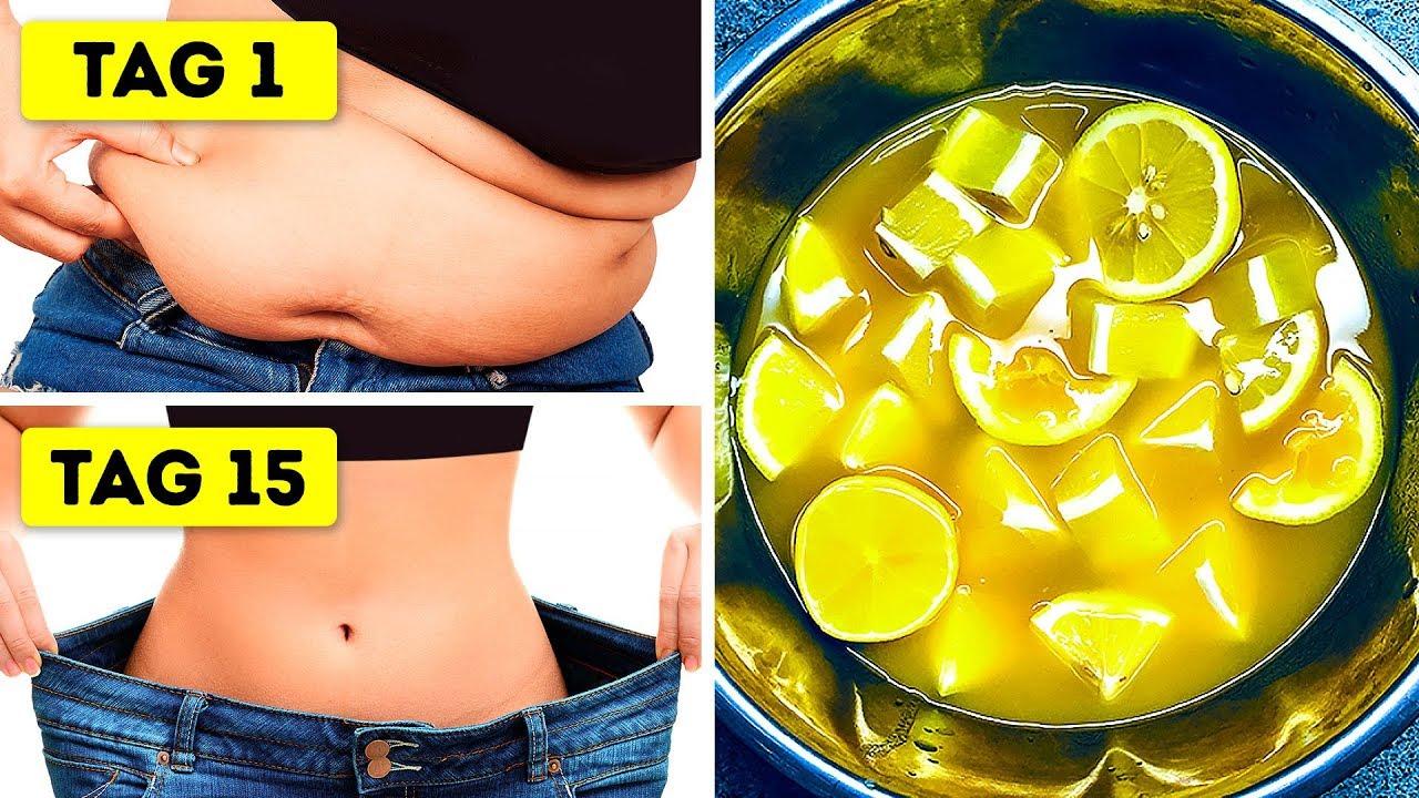 Zitronendiät, um Gewicht schnell Bauch zu verlieren