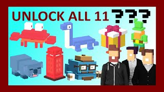 CROSSY ROAD All NEW 11 Secret Characters Unlock! | with UK Update: Nessy, Leprechaun, Phone Box!(Subscribe for more Crossy Road Videos: http://bit.ly/bitstern Today we are going to show you how to unlock ALL 11 Secret characters in Crossy Road covering ..., 2015-04-03T09:59:47.000Z)