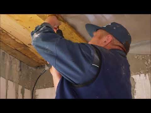 Как подшить потолок доской в частном доме видео