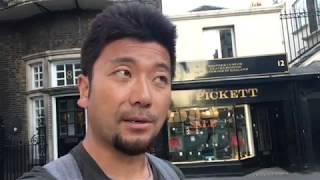 アキーラさん散策!イギリス・ロンドン・背広の語源となったサヴィル・ロウ通り(オーダーメイドの名門高級紳士服店)Savile Row,London,UK