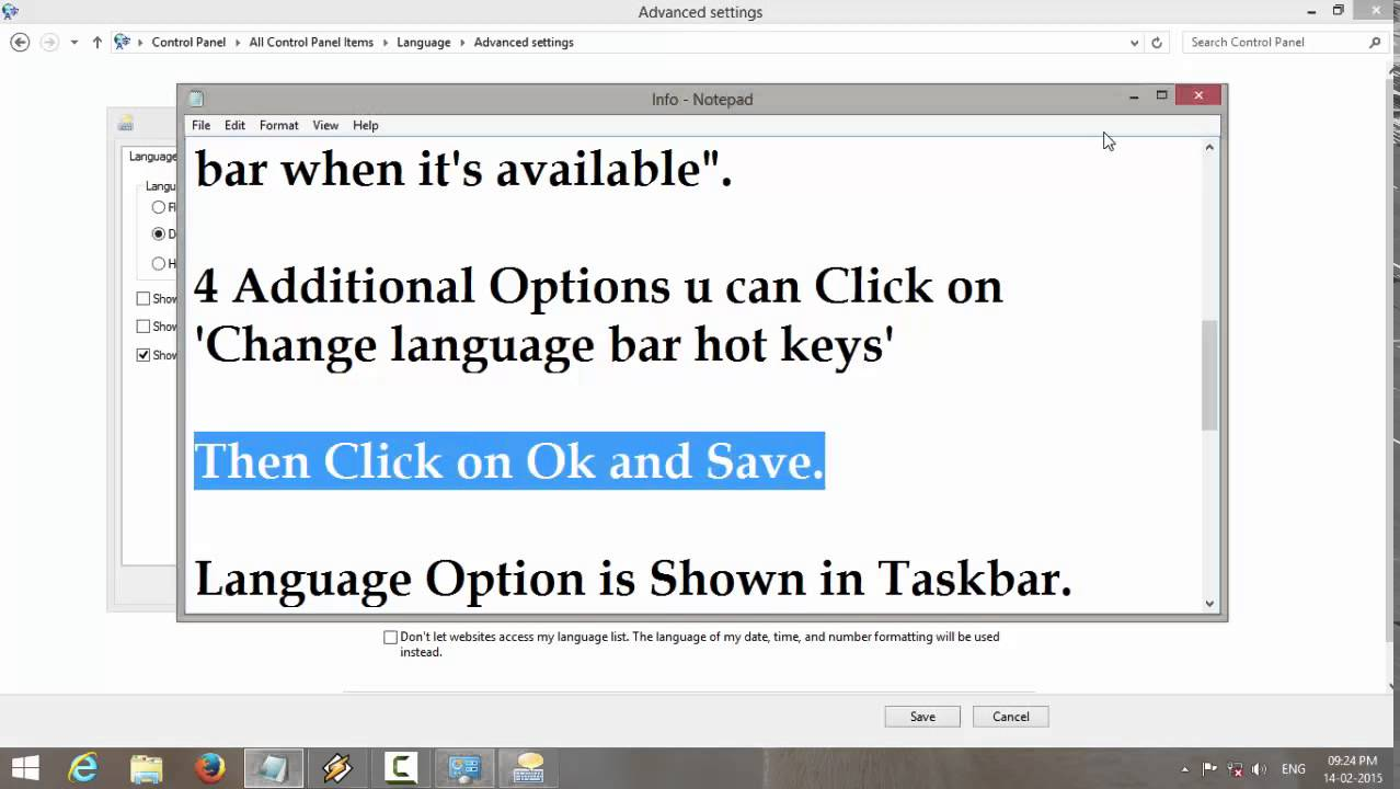 Change Keyboard Layout 4 Indic Languages on Windows 8 & 8 1