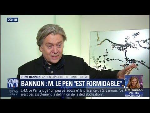 """Pour Steve Bannon, """"Marine Le Pen est l'une des meilleures leaders politiques du monde"""""""