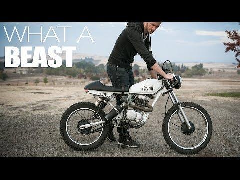 Exhaust Sound   100cc Cafe Racer