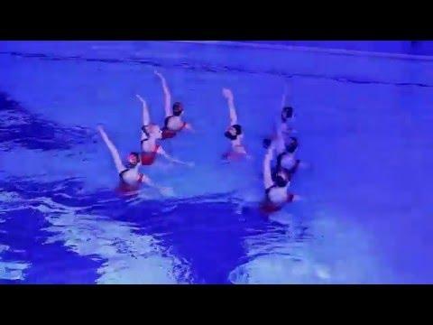 Выступление синхронисток Россия Олимпийский