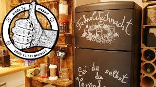 Kühlschrank mit Tafelfarbe Tafellack streichen, restaurieren