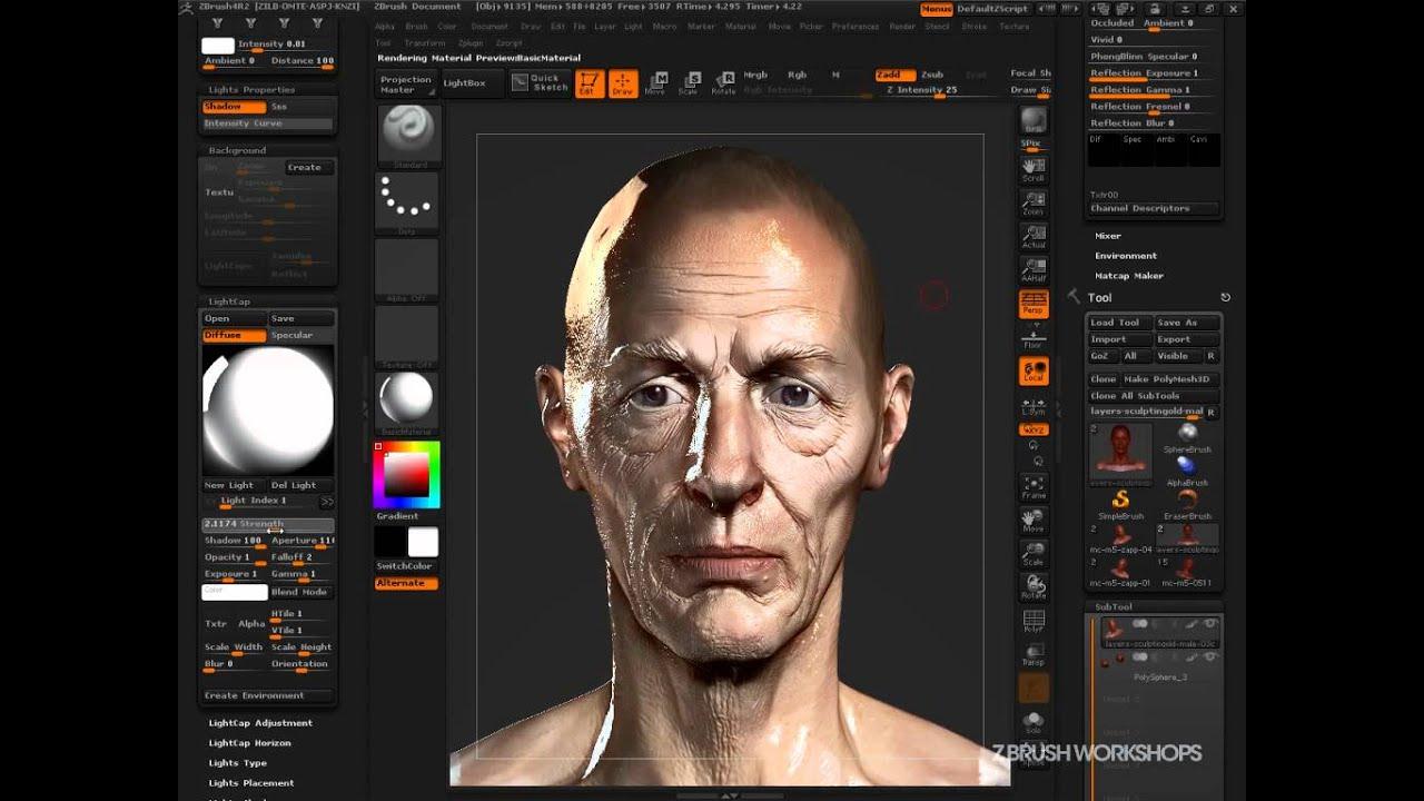 Zbrush matcaps by zbro ztuts zbrush for Programma rendering free