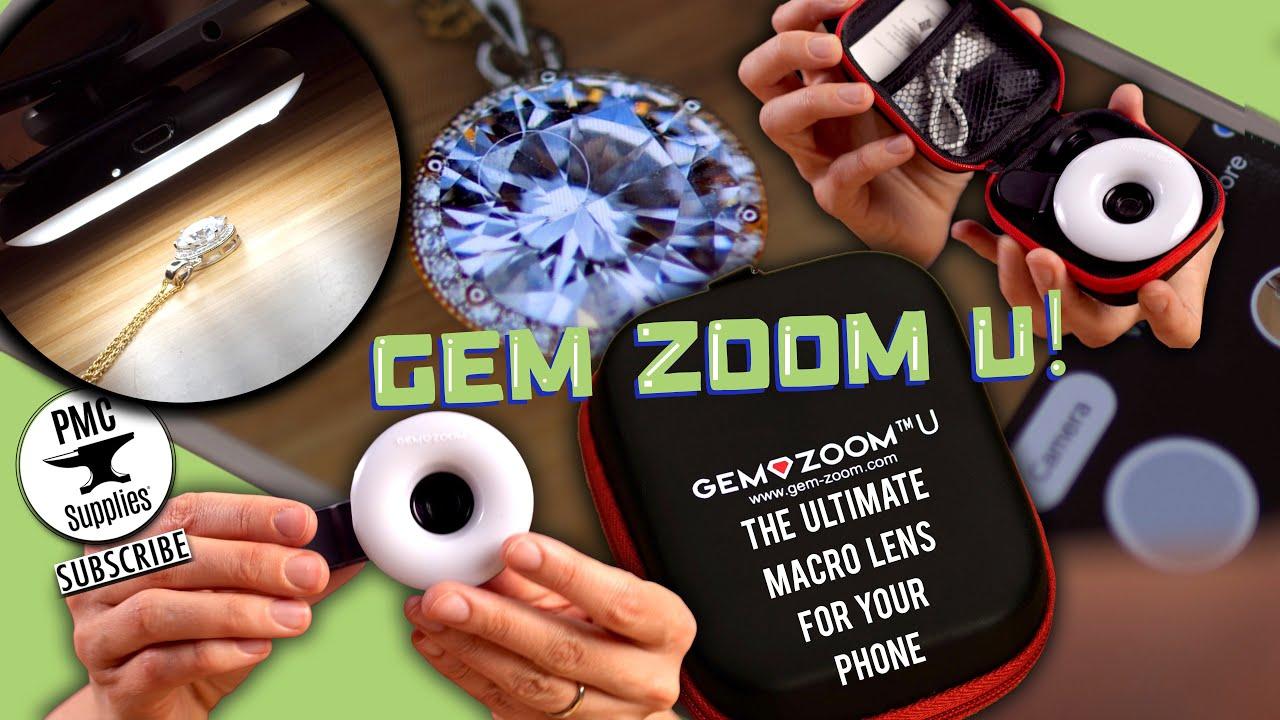 831ddc92c064ca Gem-Zoom™ U - Phone Camera Macro Lens & Light - YouTube