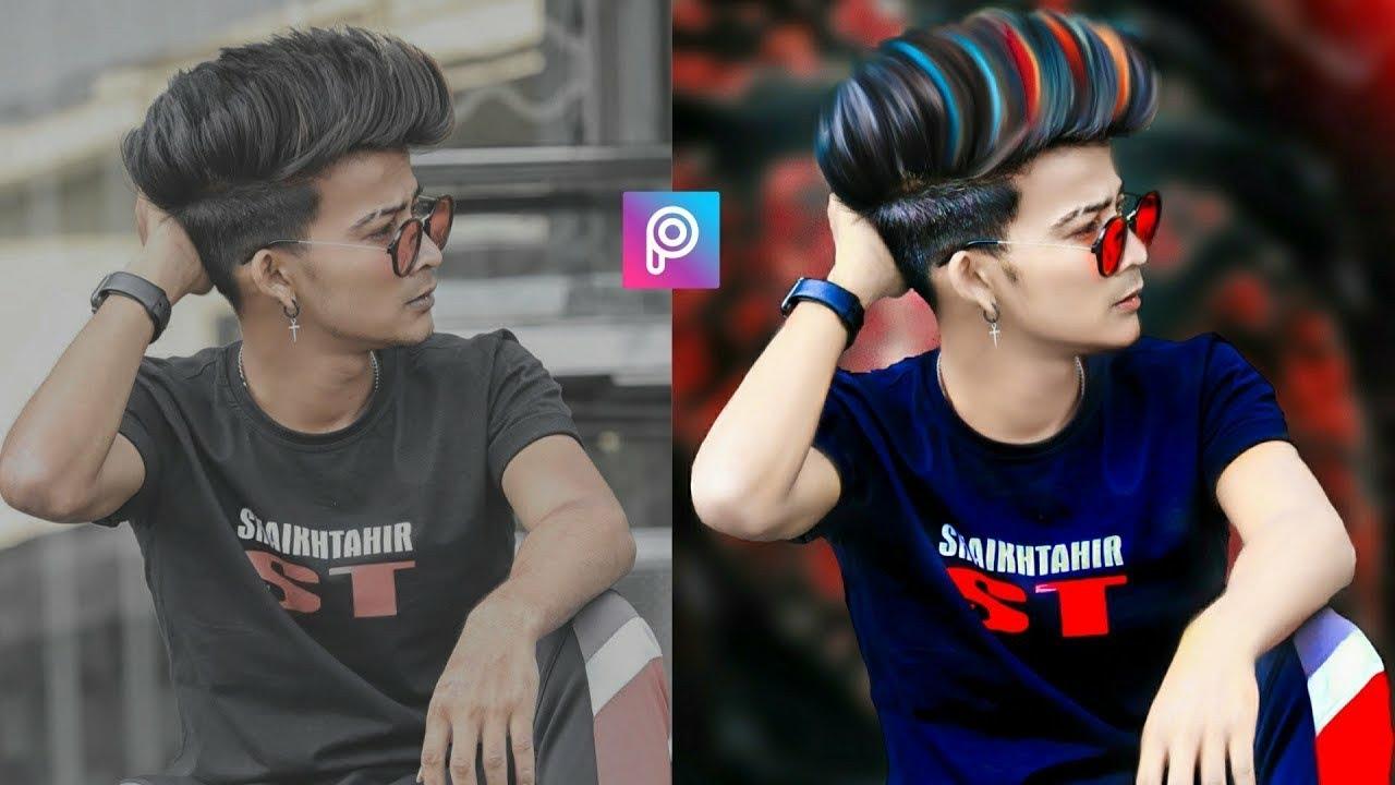 Picsart Style Photo Editing Tutorial || Picsart Hair Style ...