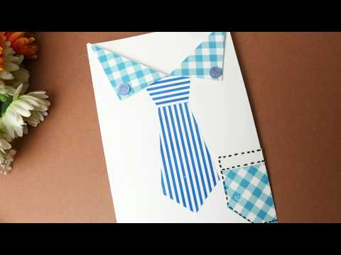 DIY Father's Day Card| Suit with Tie Card For father| Making Tuxedo Card| #father #card #shirt