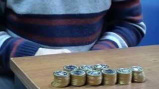 Как быстро пересчитать монеты (3 способа). Из серии Профессиональная нумизматика.(Профессиональная нумизматика. Видео сюжет о том как оперативно пересчитать монеты. Способы быстрого перес..., 2014-11-03T14:24:05.000Z)