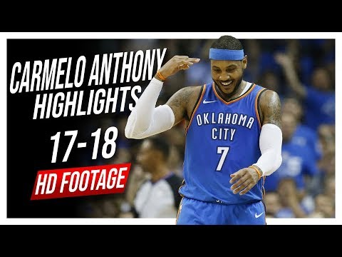 Thunder PF Carmelo Anthony 2017-2018 Season Highlights ᴴᴰ