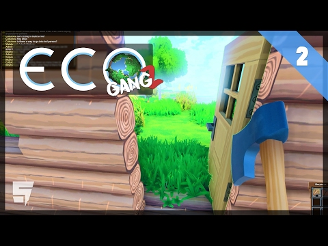 LEARNING THOSE CARPENTRY SKILLS • ECO #GangZ (Early Access / Multiplayer)