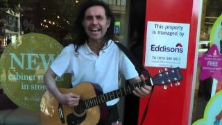 Ian Whitehead - 'Heroes' (David Bowie) - Buskers in Sheffield 15/9/2012