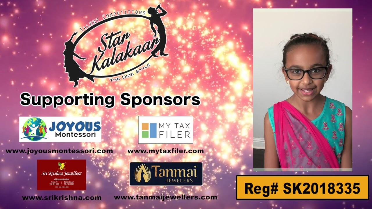 Participant Reg# SKP2018-335   -  US Star Kalakaar 2018