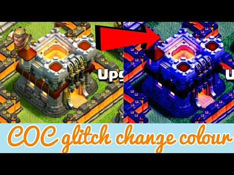 Clash of clans glitch 2017 change colour of your town hall and others,coc glitch 2017,coc 2017,coc