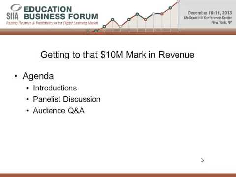 EBF 2013 - Getting to that $10M Mark in Revenue