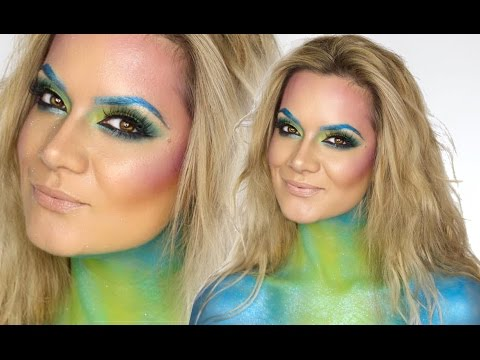 Mermaid Make-Up Tutorial   Halloween   Shonagh Scott   ShowMe MakeUp