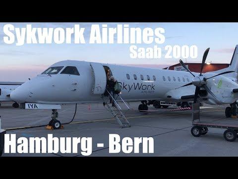 Skywork Airlines Saab 2000 Flight SX 209 Hamburg - Bern
