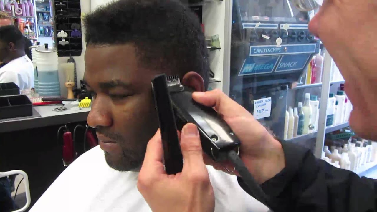 How To Taper U0026 Line Up Black Curly Hair Haircut Video Clipper HD