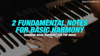 The 2 Fundamental Notes You Need For Basic Harmony | Make Pop Music